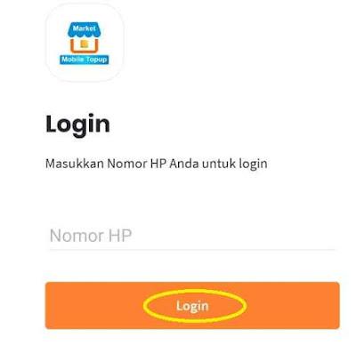 Login Aplikasi Market Mobile Topup Market Pulsa Digital