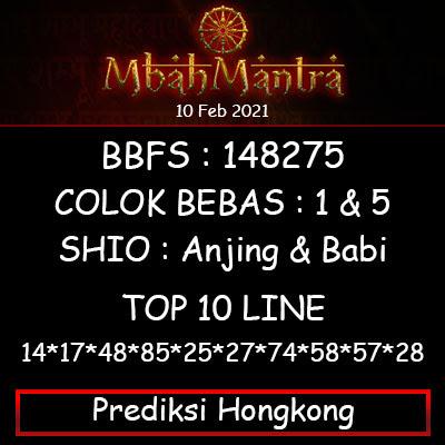 Prediksi Angka Hongkong 10 Februari 2021