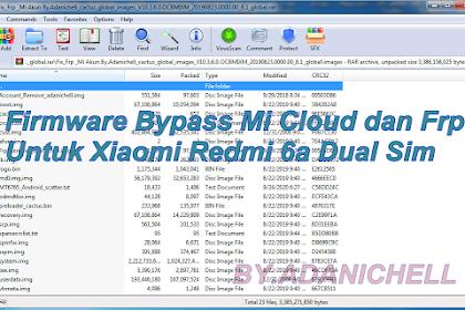 Firmware Bypass Mi Cloud dan Frp Untuk Xiaomi Redmi 6a Dual Sim