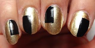 Black Geometric Nails