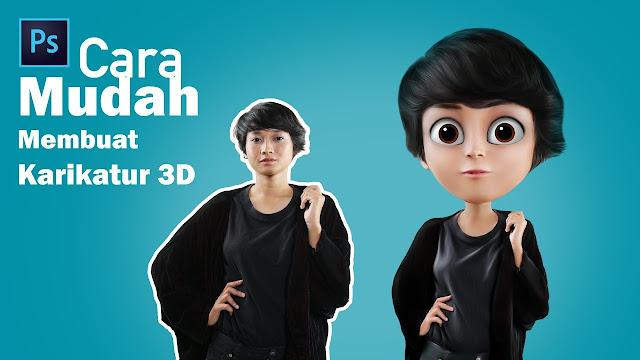 Cara Buat Karikatur 3D, TUTORIAL PHOTOSHOP, Bahasa indonesia