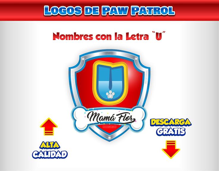 """Paw Patrol: Nombres de Niño con la Letra """"U"""""""