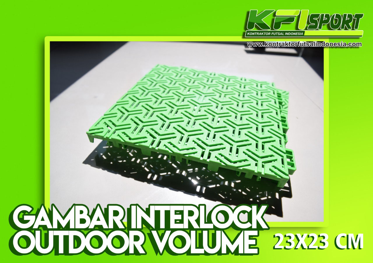Gambar Interlock Outdoor Volume 23x23 cm