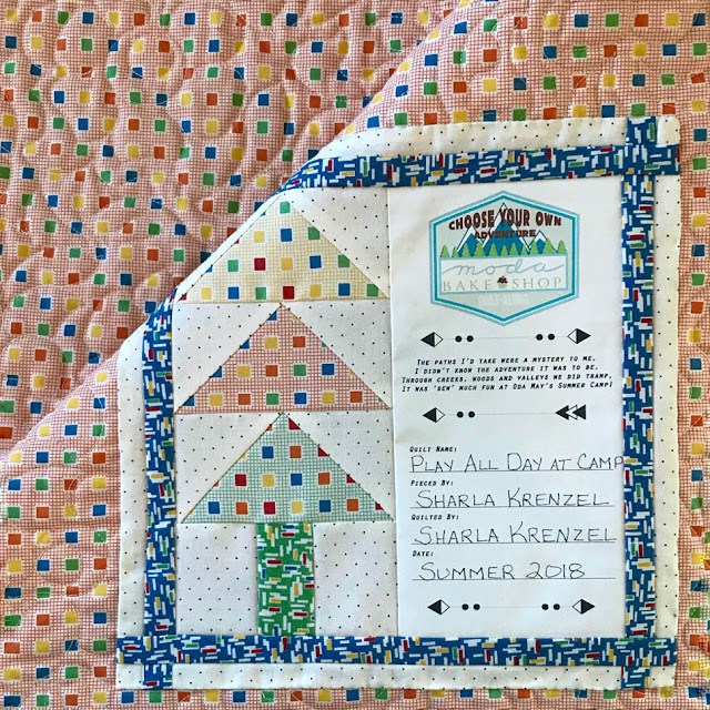 Play All Day At Camp Quilt By Thistle Thicket Studio. www.thistlethicketstudio.com
