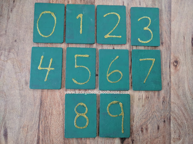 DIY Montessori Sandpaper Numbers I Made