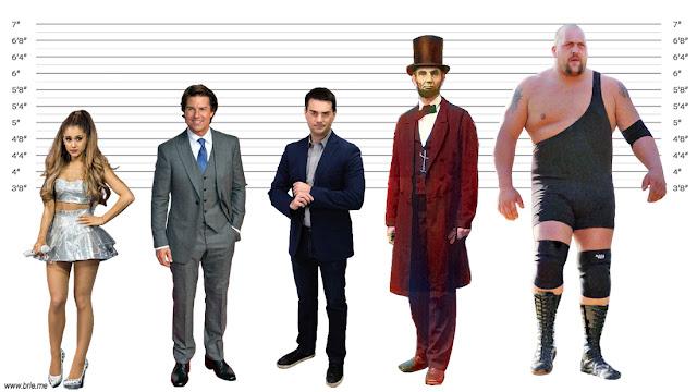 Ariana Grande, Tom Cruise, Ben Shapiro, Abraham Lincoln, and Big Show