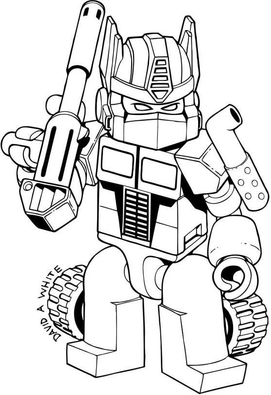 Kumpulan Gambar Robot Transformer Untuk Mewarnai Anak Paud Tk Anak Sd