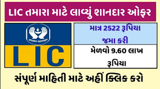 LIC Cool offer Only 2522 rupees deposited Get Rs 9.60 lakh & Full Details Open 2021