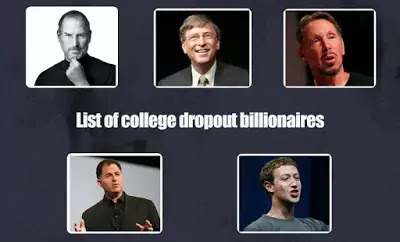 Top 5 college dropouts who later became billionaires