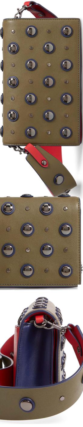 DIANE VON FURSTENBERG Soirée Embellished Leather Convertible Clutch