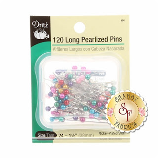 Long Pearlized Pins Dritz Shabby Fabrics