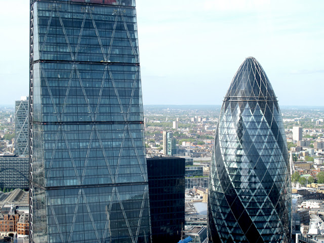 The Gherkin from the Sky Garden at the top of the Walkie Talkie