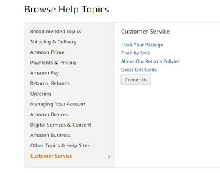 3. Come to Amazon's help page and suck up the customer service option