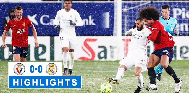 Osasuna vs Real Madrid Highlights