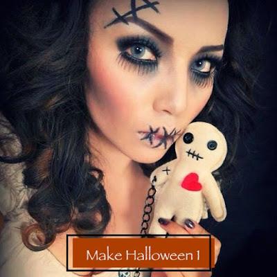 Maquiagem de Halloween 1: boneca costurada