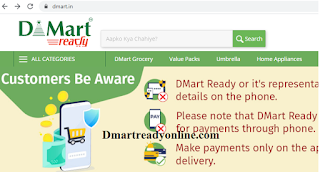 Dmart Ready Online product list with Price