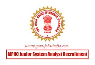 MPHC Junior System Analyst Recruitment 2020