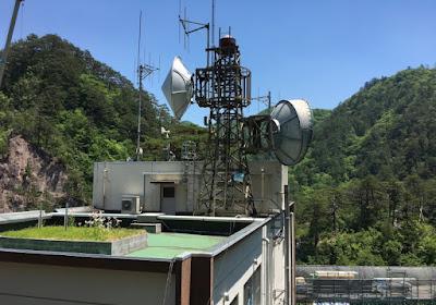 川俣ダム管理事務所の屋上