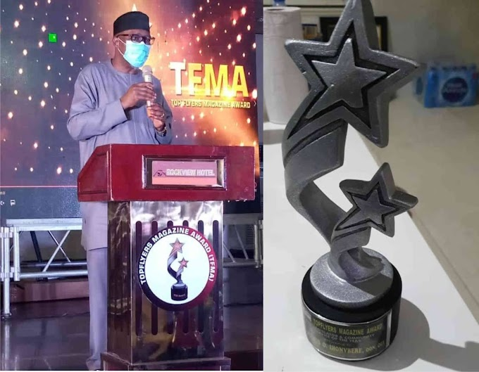 IHONVBERE RECEIVES BEST LEGISLATOR IN COMMUNITY SERVICE AWARD