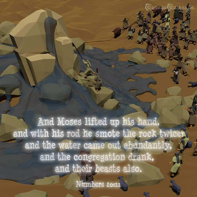 Word of God: Moses smote the rock twice in Horeb
