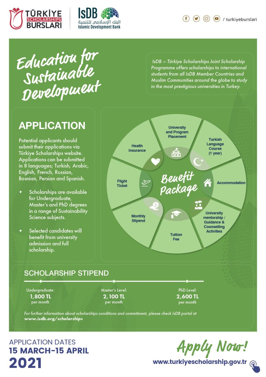 IsDB-Türkiye Scholarships