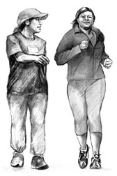 Walking Running Gals - Source: National Institute of Health - http://www.niddk.nih.gov/health-information/health-topics/Diabetes/physical-activity-diabetes/Pages/physical-activity-diabetes.aspx