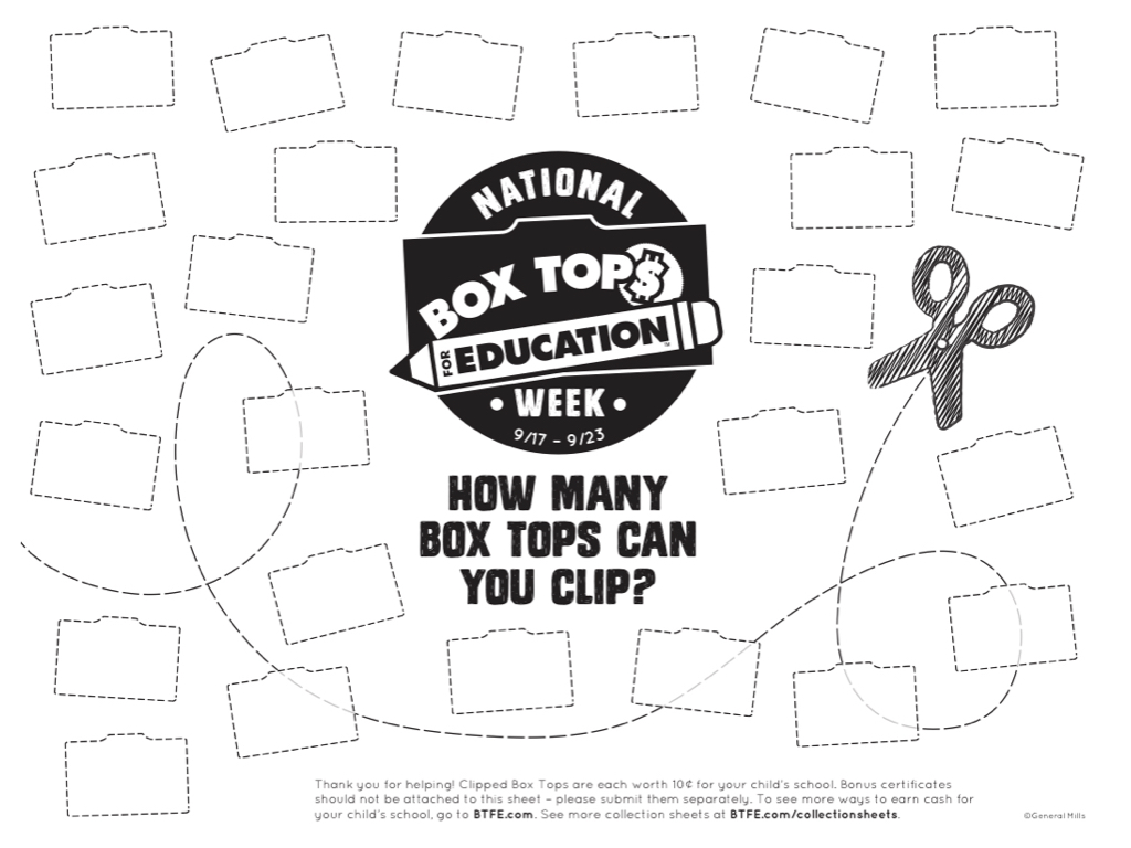 Grace Christian Academy: Box Top Collection Week