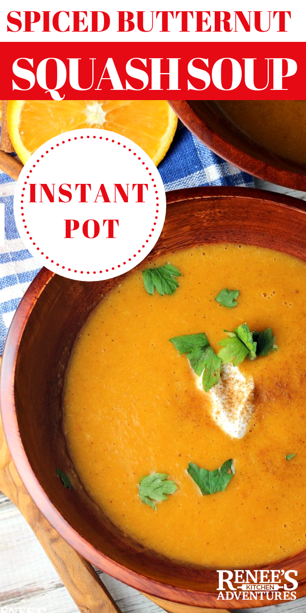 Moroccan Spiced Butternut squash soup pin