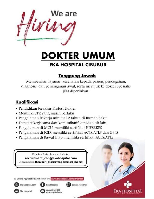 Loker Dokter Umum Eka Hospital Cibubur