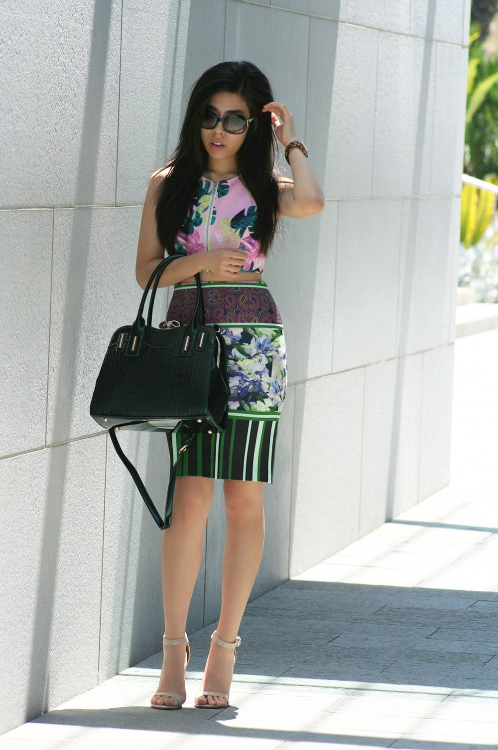 Adrienne Nguyen_INvictus_What to wear with a tight Pencil Skirt_CLover Canyon Floral Pencil Skirt