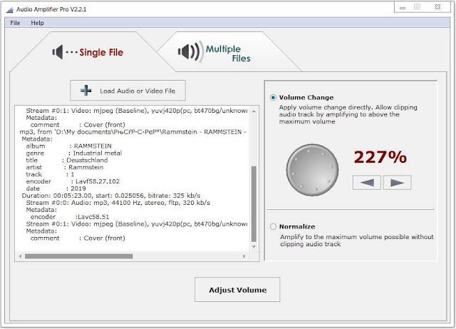 Screenshot Audio Amplifier Pro 2.2.1 Full Version