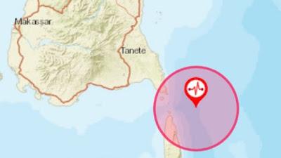 BMKG: Gempa M 4,8 Terjadi di Bulukumba Sulsel