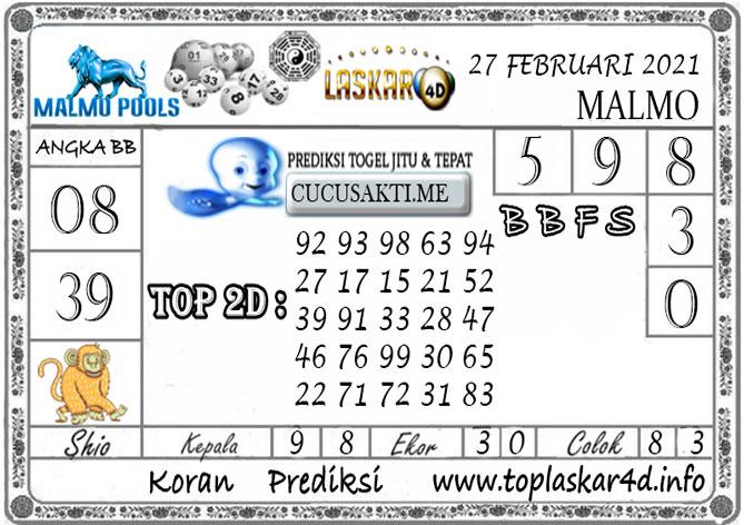 Prediksi Togel MALMO LASKAR4D 27 FEBRUARI 2021
