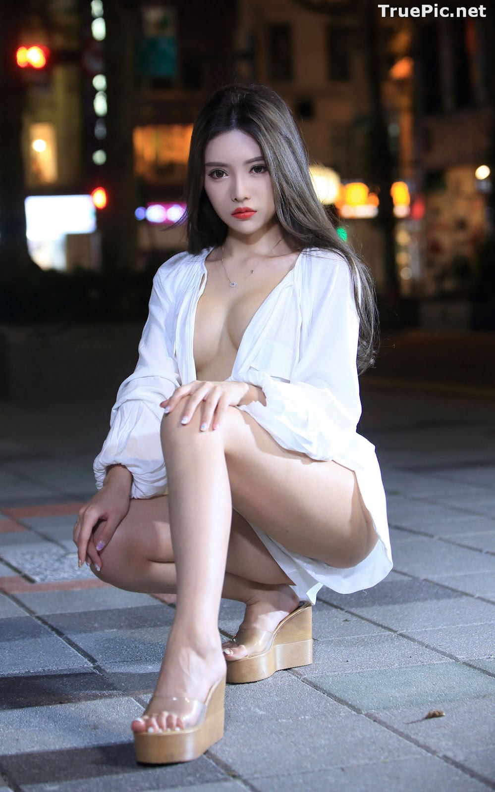 Image Taiwanese Model – 莊舒潔 (ViVi) – Sexy and Pure Baby In Night - TruePic.net - Picture-24