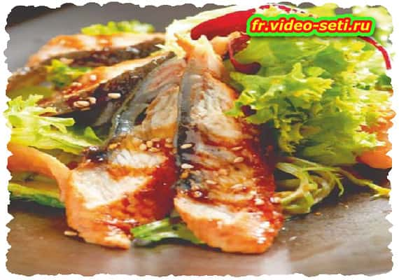 Salade d'anguille fumée