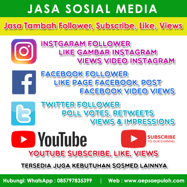 Jasa Tambah Follower, Subscribe Youtube Instagram Facebook