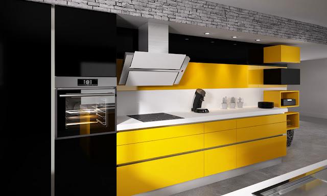 cocina-amarilla-con-pared-negra