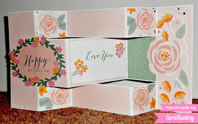 Tri-Fold Shutter Card: Happy Mother's Day