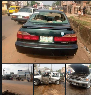 unknown gunmen strike bank in Anambra, displacing biafran flag; ABS news