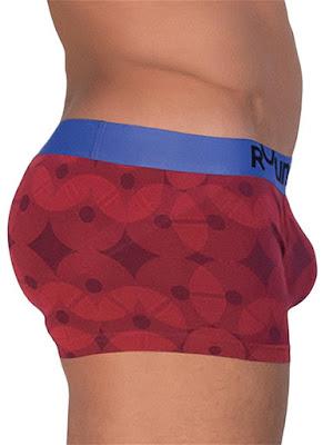 Rounderbum Lift Trunk Summer Days 3-Pack Underwear Red Gayrado Online Shop
