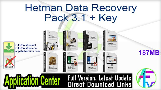 Hetman Data Recovery Pack 3.1 + Key