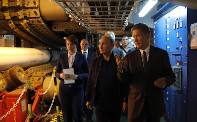 Russian President Vladimir Putin and Gazprom CEO Alexei Miller.