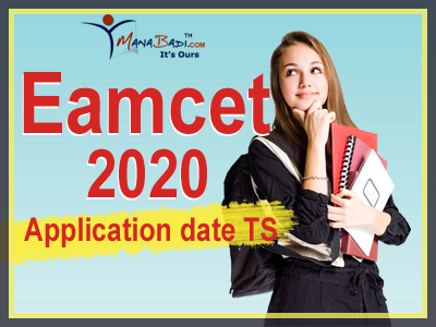 Eamcet 2020 Application date ts