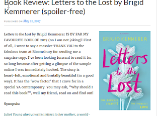 https://bibliophilicmedstudent.wordpress.com/2017/05/21/book-review-letters-to-the-lost-by-brigid-kemmerer-spoiler-free/