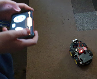 elegoo robot car and phone controller