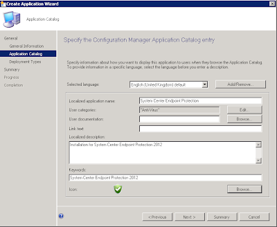Install System Center Endpoint Protection (SCEP) using the SCCM Software Catalog 3