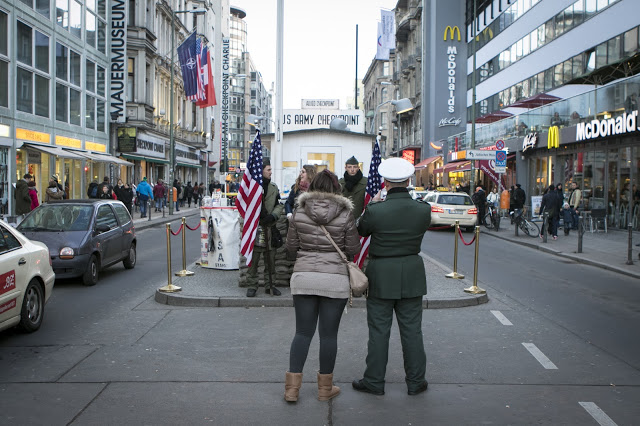 Check point Charlie-Berlino