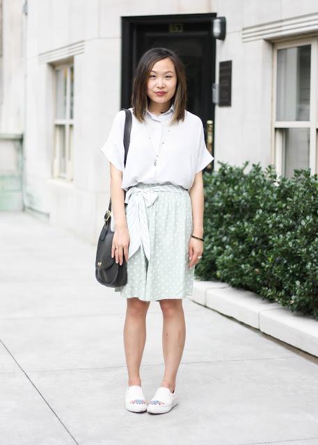 Minimalist Silk Blouse and High-Waisted Shorts