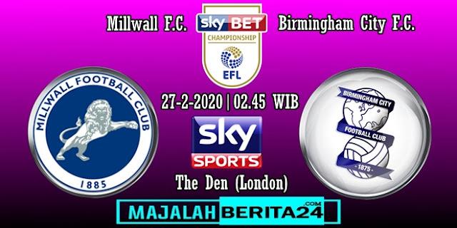 Prediksi Millwall vs Birmingham City