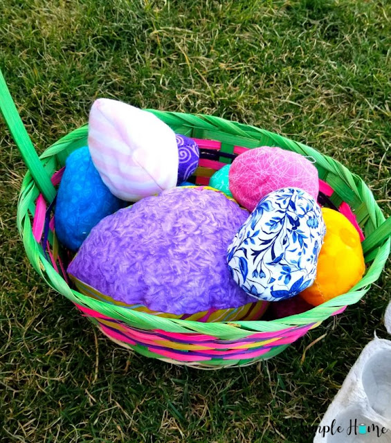 fabric egg pattern